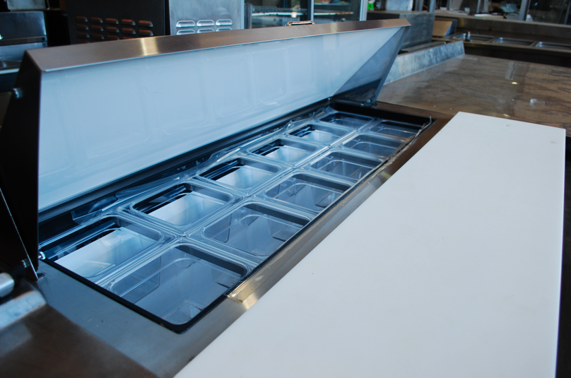 Refrigerated Sandwich Prep Tables Now Available At One Fat Frog - Cold sandwich prep table