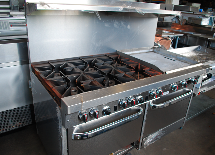 Restaurant Kitchen Oven the many function of a range oven; used and new range ovens
