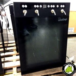 A black wine dispenser.
