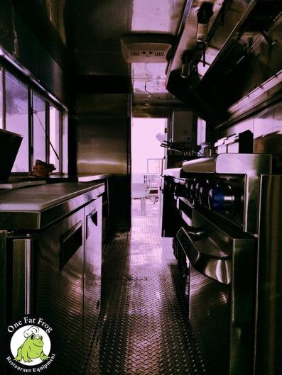 Interior Photo of Frog Food Truck Build Construction Project - Diamond plate floors & stainless walls